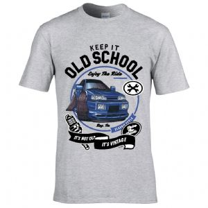 Premium Koolart KEEP IT OLD SCHOOL & Retro Sapphire classic car image mens t-shirt gift